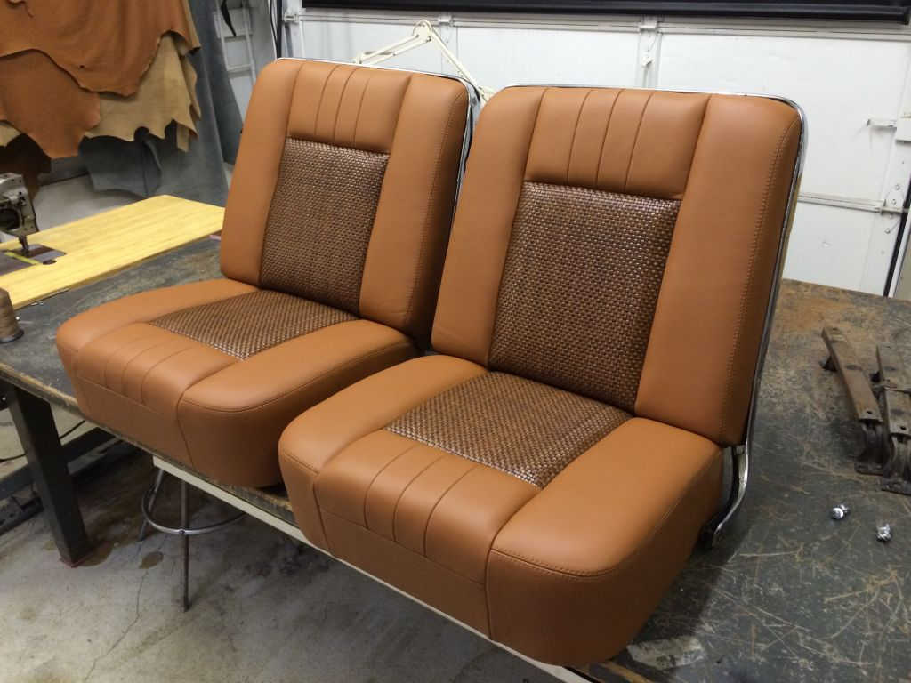 1966 Chevy Suburban Custom Interiors by Vos leather Mr. Gasket