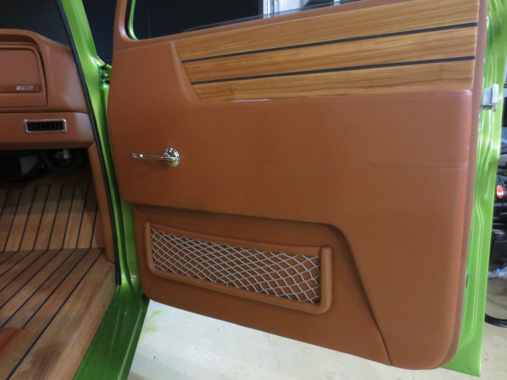 hot rod interior custom street rod high end auto upholstery truck suburban lime crush